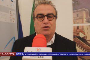 """(VIDEO) Autonomia del Parco archeologico, Granata: """"Qualcuno non la vuole""""."""