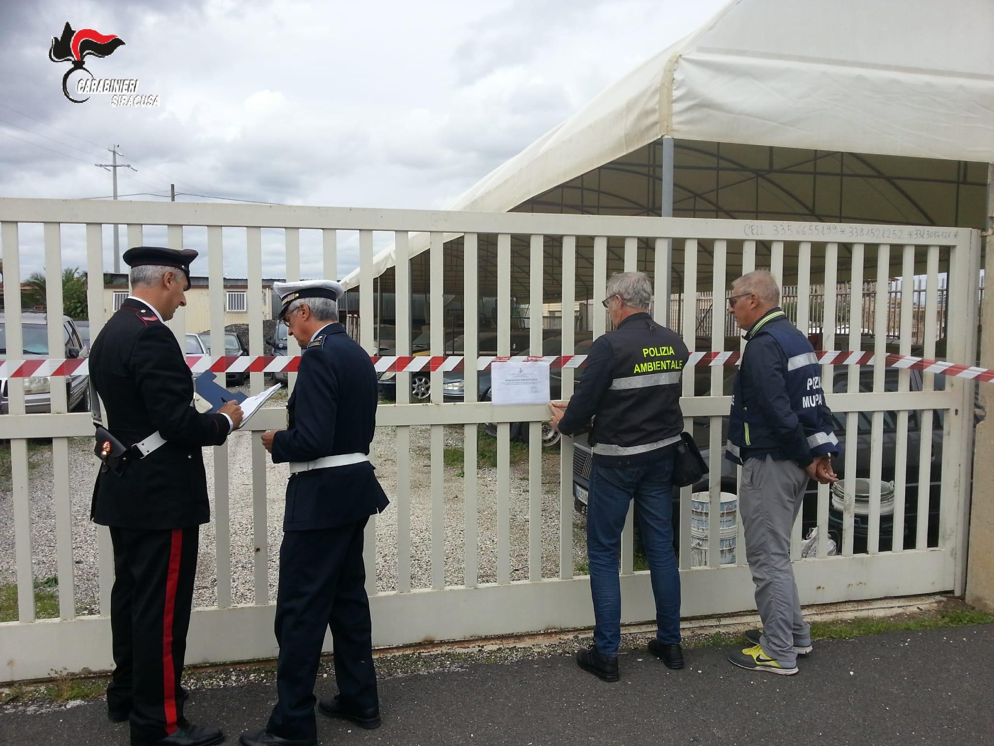I carabinieri sequestrano discarica abusiva di Cassibile