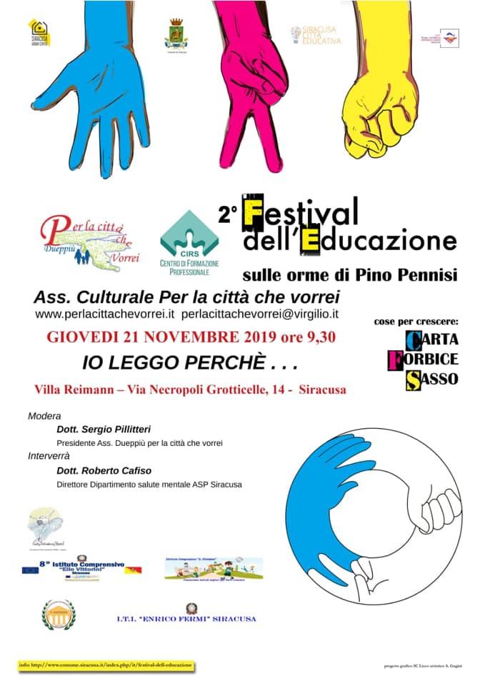 """L'associazione """"Per la città che vorrei"""" organizza """"Io leggo perchè…"""": appuntamento il 21 novembre a Villa Reimann"""